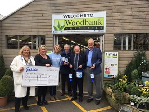 Great day today when we were able to hand over a cheque for £1000 to Manorlands hospice after our collection at Woodbank Garden Centre just before Christmas