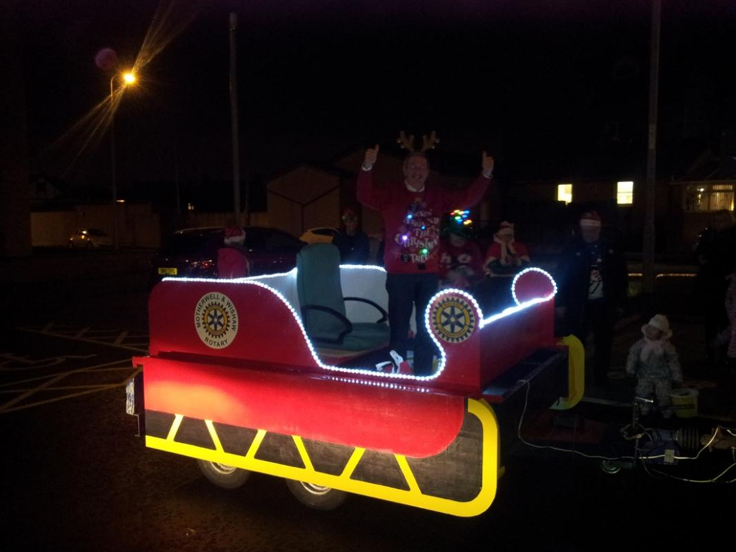 Building Santa's Sleigh - The finished article