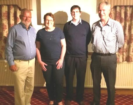 President Robin with Victoria Massey, Craig Swire and Nigel