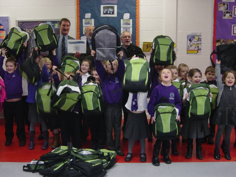 Back packs for Mary's Meals -