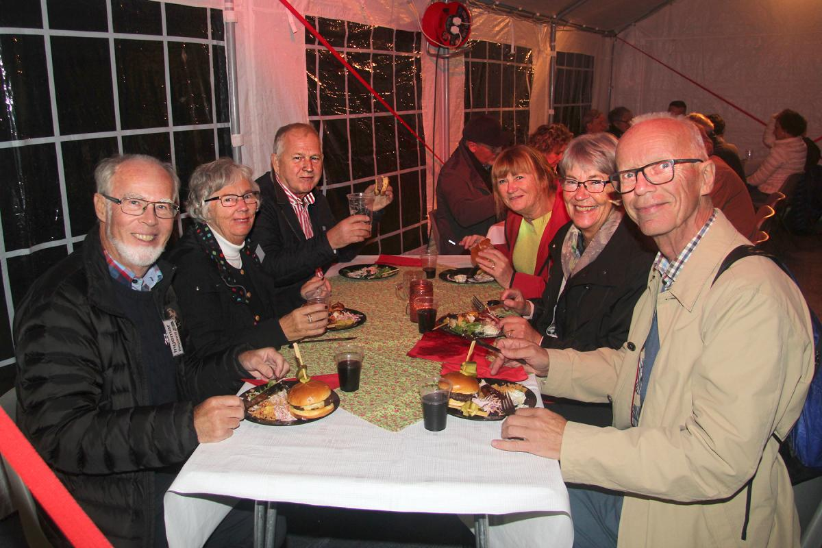 Swedish, French, Italian and English Rotarians enjoy the Barbeque