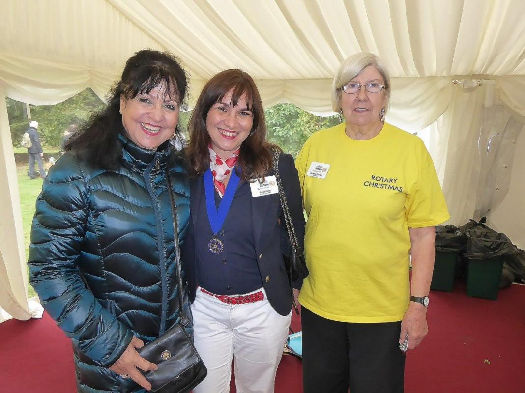 Lambeth Palace Garden Party - District Governor Helen Antoniou with Rotarians Senia & Vanessa