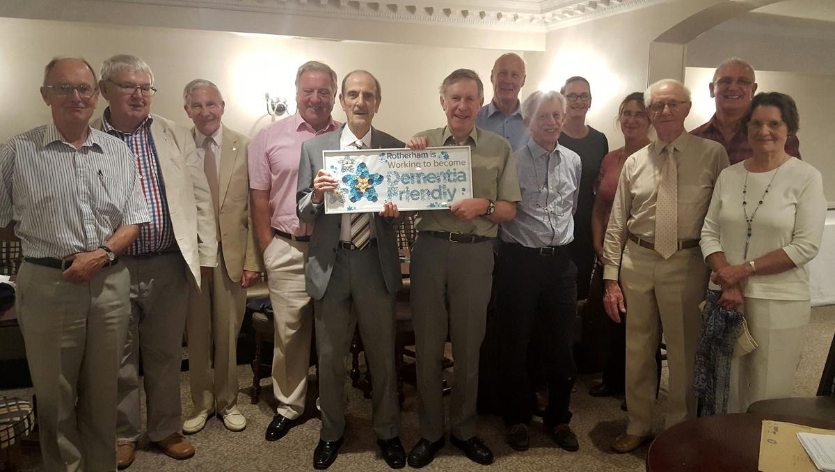 Club volunteers after a dementia training session given by Kathryn Rawling of the Alzheimer's Society