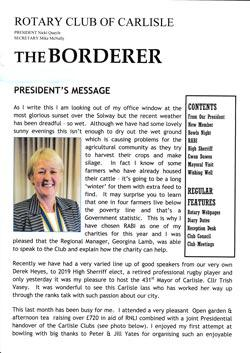 The Border is our club's monthly magazine. It contains reports of past events and future programme.