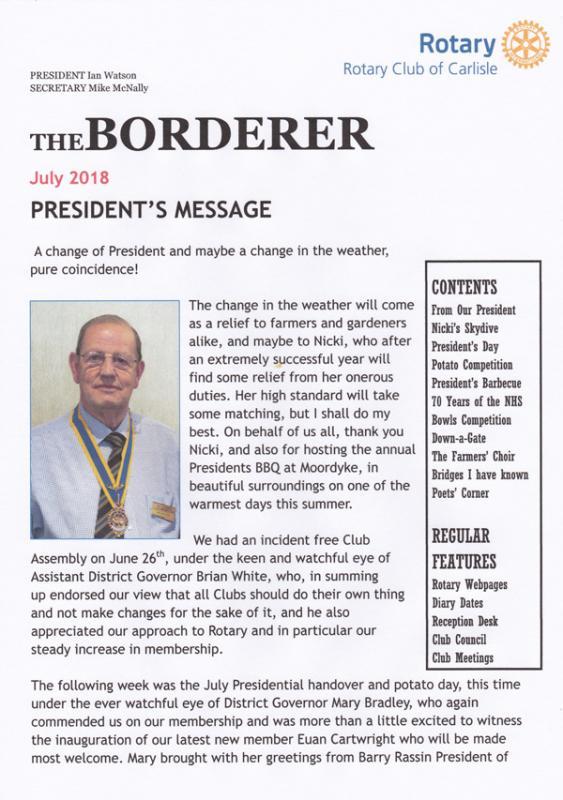 July 2018 - Rotary Club of Carlisle