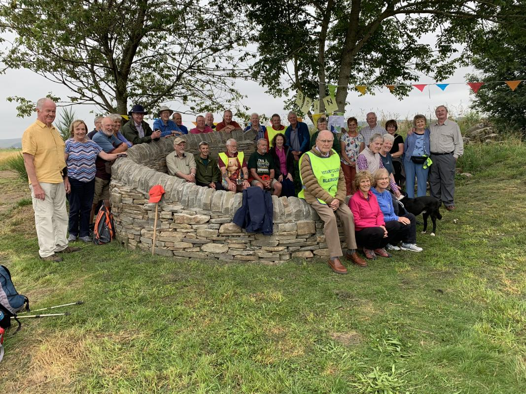Knockie Walk 2019 - Walkers and helpers at the Knockie shelter
