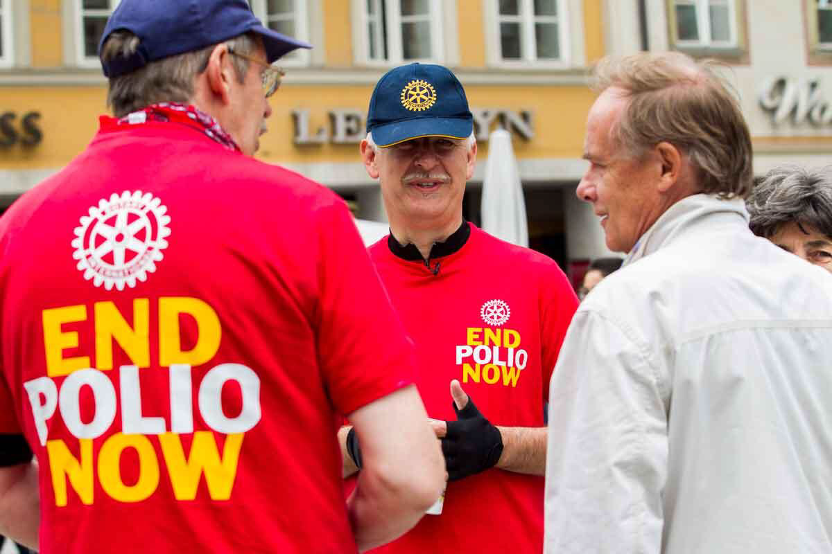 The Club is a regular contributor to the Rotary International initiative to end Polio.