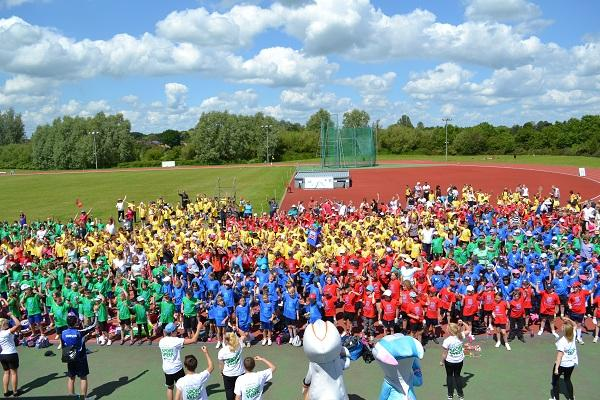 Jun 2013 Mini Olympics, Wilberforce Road. - Colourful and busy day!