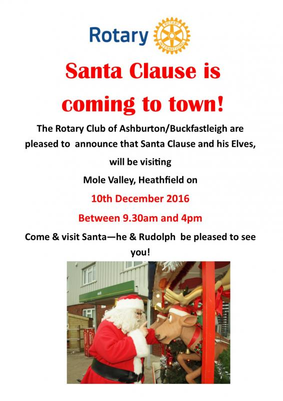 Santa to visit Mole Valley Farmers - Heathfield