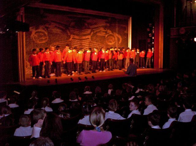 Young Choral Speakers take Centre Stage at the Oldham Coliseum Theatre