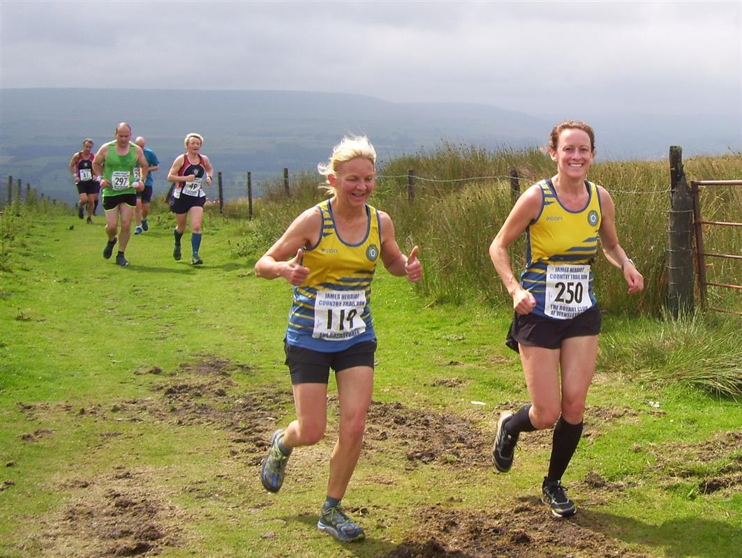 Runners arrive at top of Black Hill