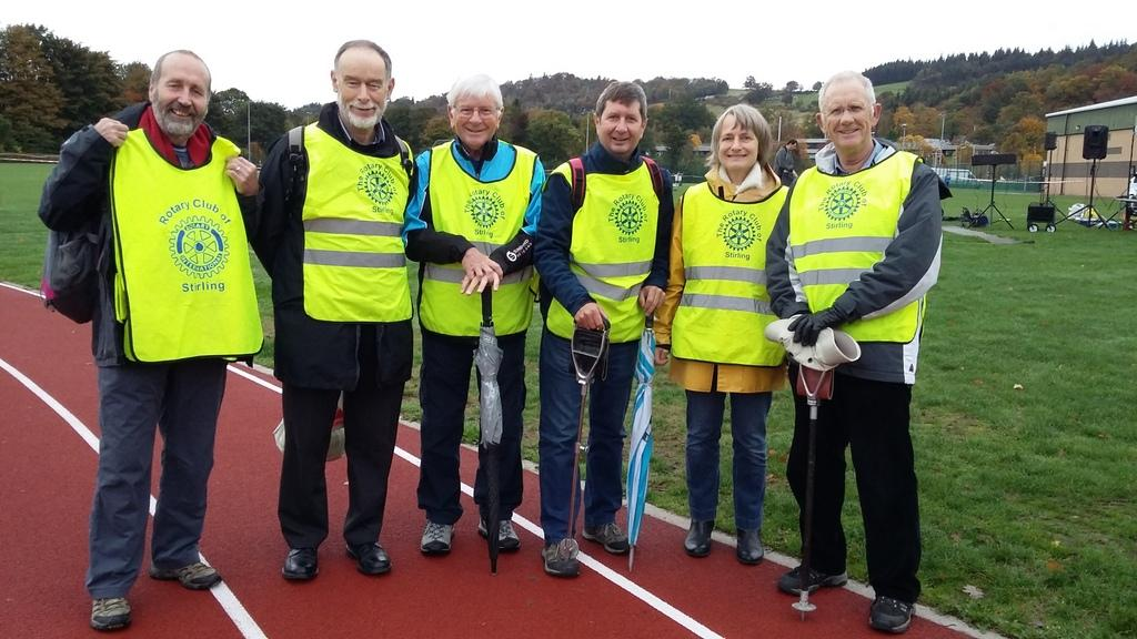 Rotary members at Stirling University 10k run