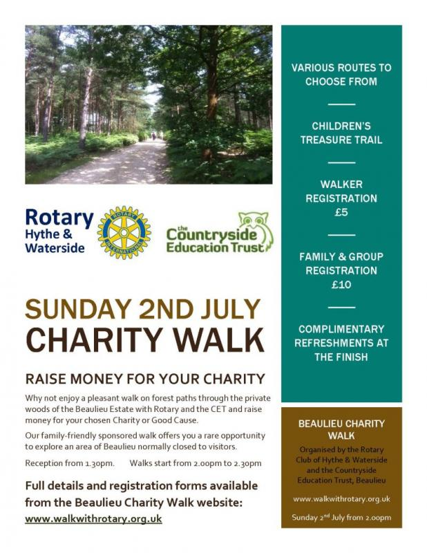 Beaulieu Walk 2017 - Raise money for YOUR charity!