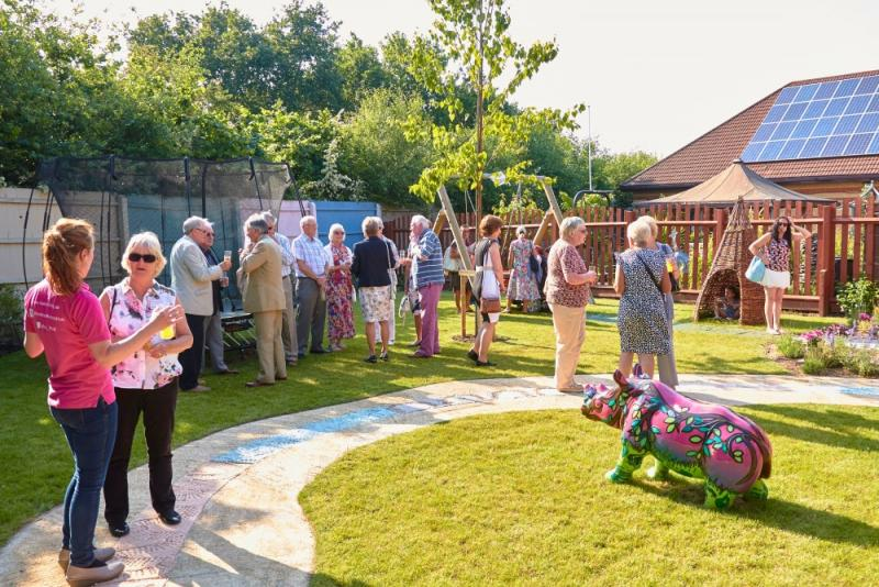 ROSE ROAD SENSORY GARDEN  - Official Opening Day. June 2015