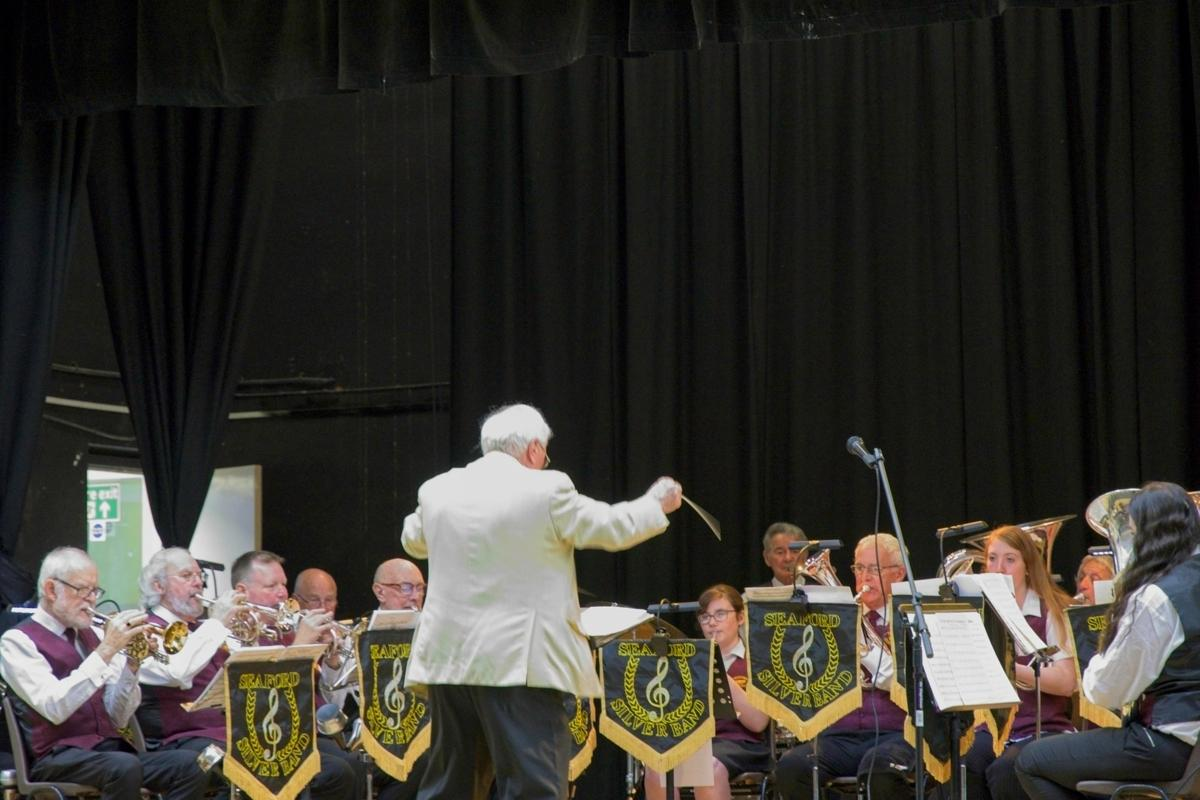 Seaford Silver Band at the 2019 Martello Proms