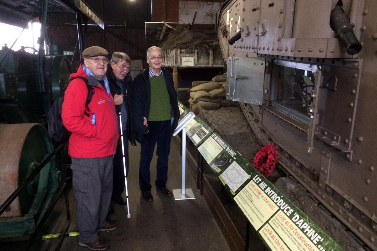 DD , President Mark and Secretary Ian getting tanked up at The Museum of Lincolnshire Life