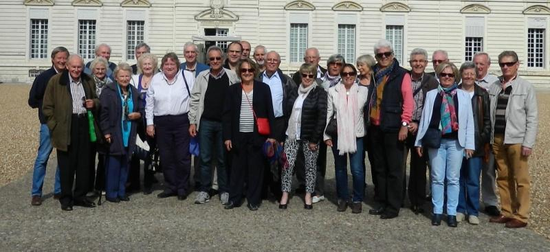 Members of our two Clubs outside the Chateau