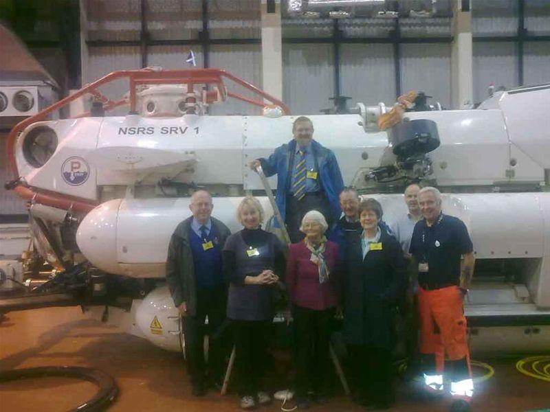 Social Activities - Examining the submarine rescue vessel