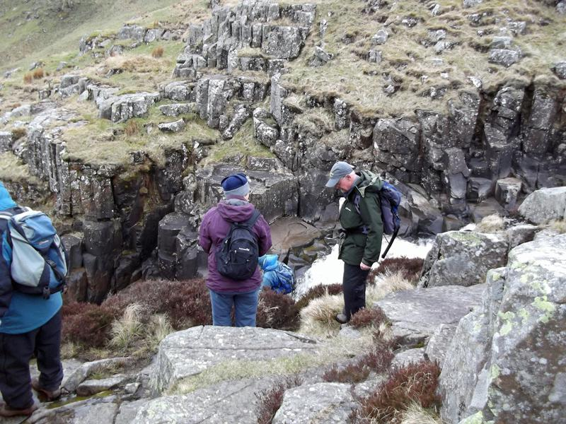 2013 Alan Hurst Walk Teesdale Way - A tricky descent into the Tees Valley