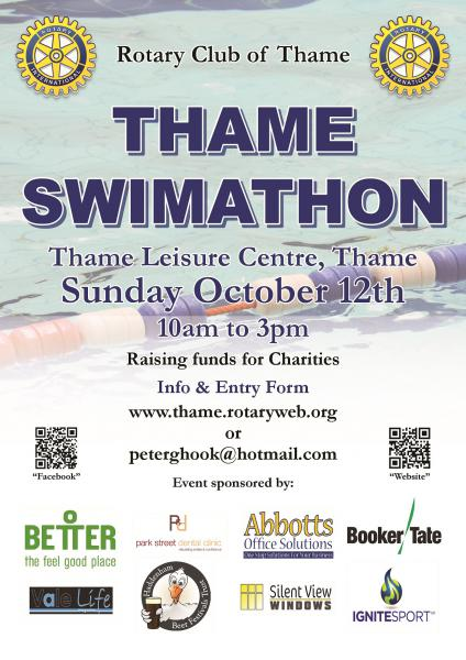 Thame Swimathon 2014 - Thame Swimathon poster. Background photo: Nick White