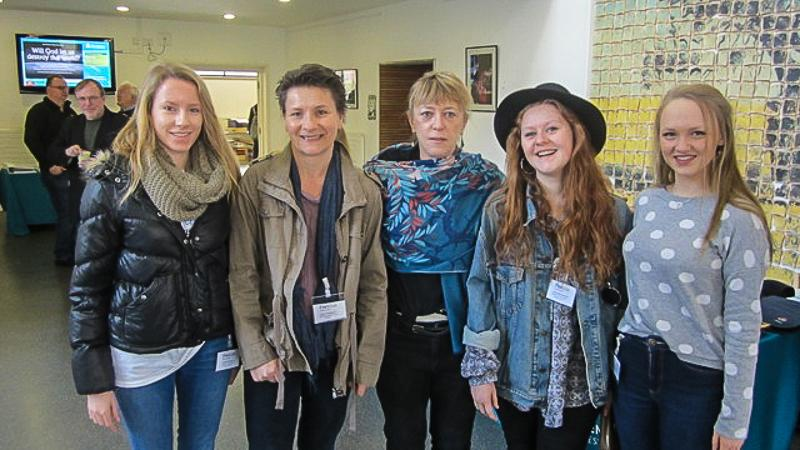 Jersey Students at PeaceJam UK Conference March 2015 - Jody Williams (centre) with the Jersey Party