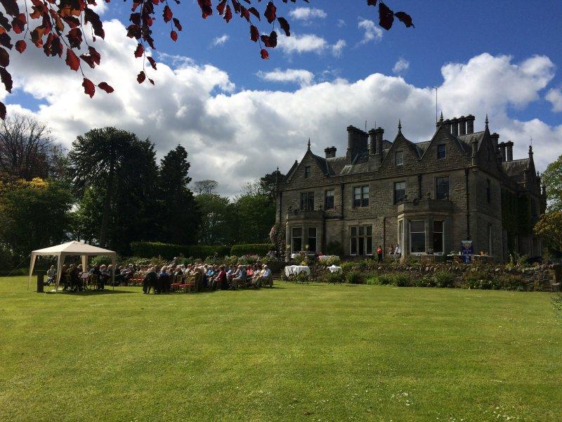 On the lawn at Craigsanquhar House Hotel