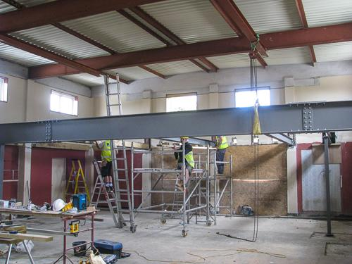 Progress on Renovation at 17th June 2015 - Oh what a beam!