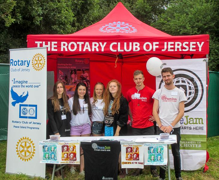 PeaceJam at Jersey Live - The PeaceJam team ready for action.