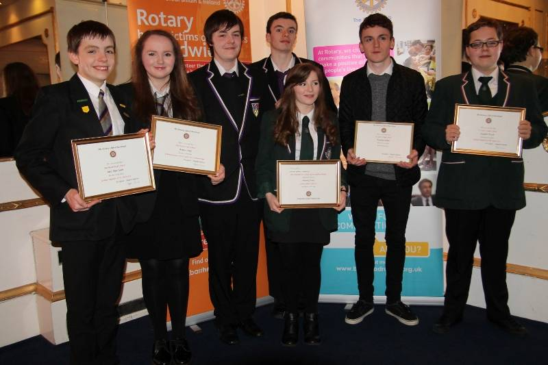 Annual - Young Linguist & Euroscola Awards 2015 - Rotary Club of Barrhead - Young Linguist & Euroscola winners.