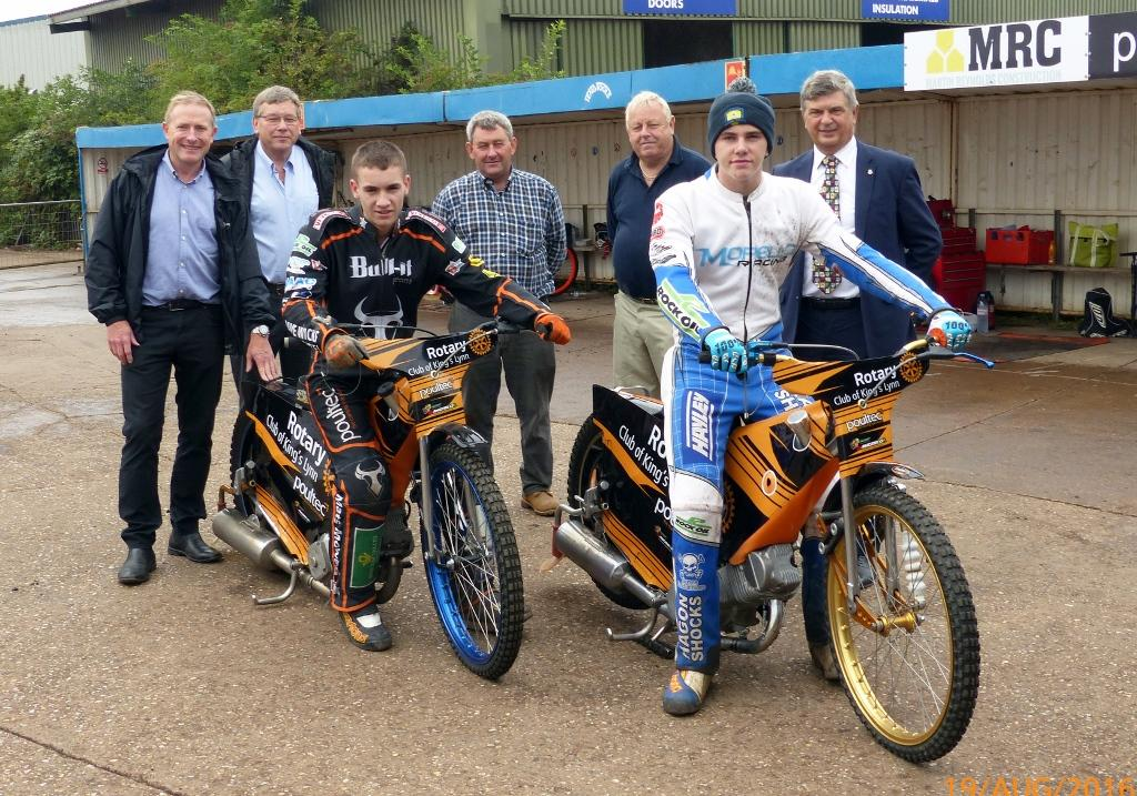 Kickstart in Action - Members of the team -  Sponsors and Riders