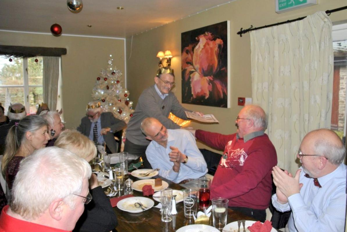 Golfing Rotarians Christmas lunch Portway, Staunton - Golfing awards presentation to Paul