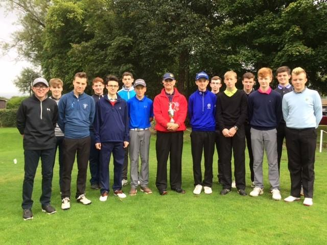 Schools Golf Competition - 2016 - Pres. James with the participants