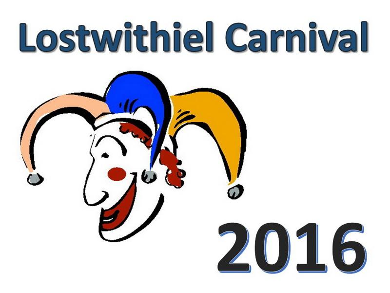 2016 Lostwithial Carnival Week - A week of merriment and sport for the whole town to enjoy with Charity Fete, Cricket, Rounders, Pram Race, Concert, Raft Race, Street Party, Duck Race, Live Music, Dancing, Senior Football, Spot the Stranger, Carnival Parade and Bunting!