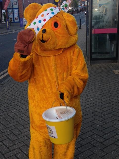 Thanks to the generosity of the residents of Crowthorne, we raised £1246,80 for the Pudsey Children in Need Collection