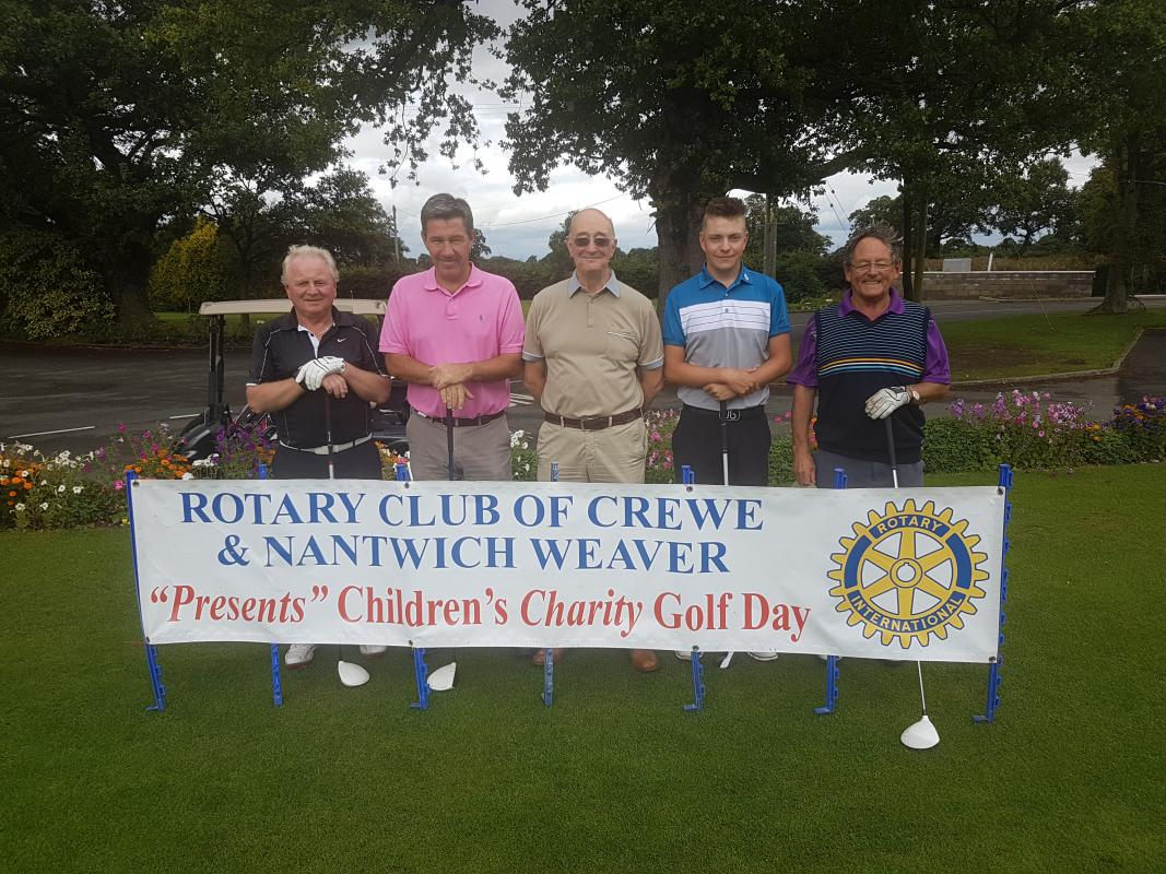 A Happy Band of Golfers - before their round!