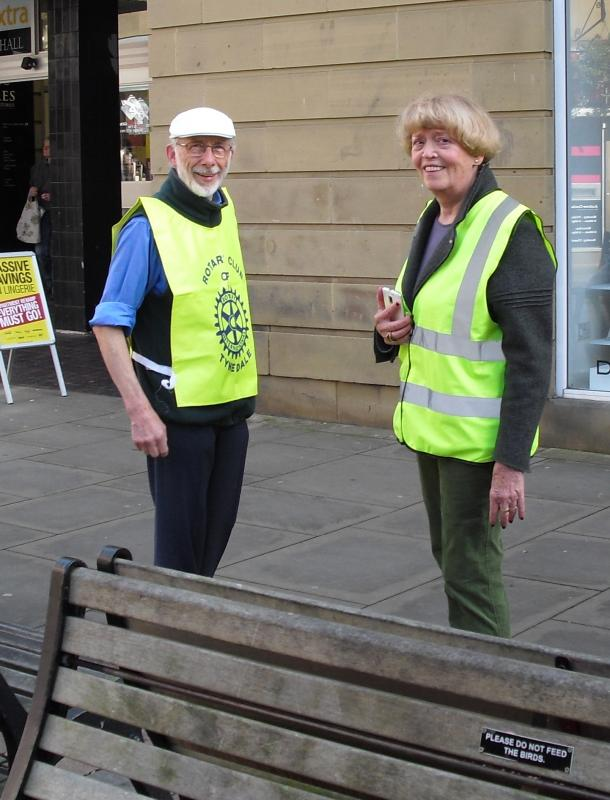 Rotarians collecting for charity