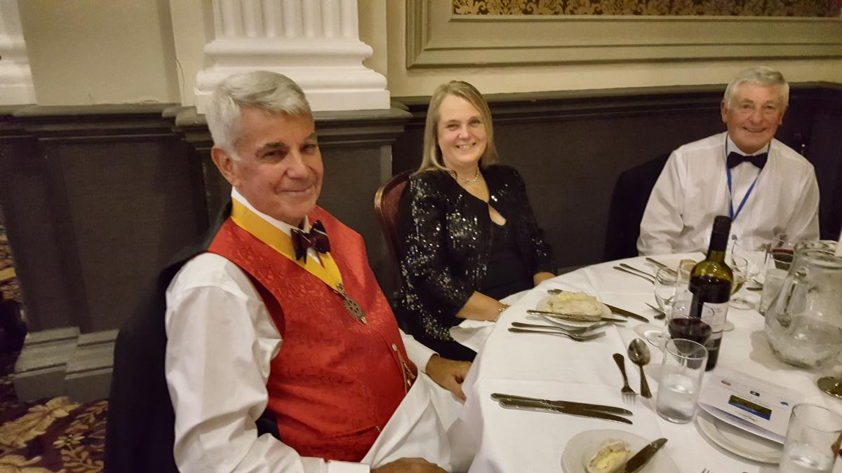 District Conference Harrogate  - SVP Tony Ford and Brenda with Rtn. Jim Greensmith enjoying  their first Rotary Conerence