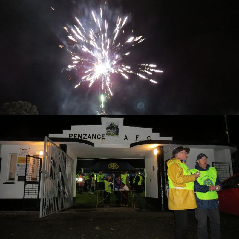 Penzance Town Fireworks - Rotary District