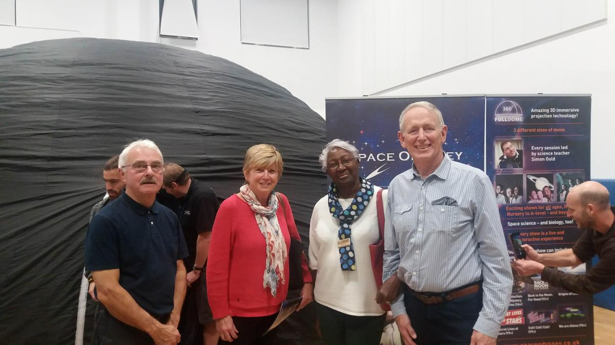Exmoor Dark Skies Festival 2018 - Rotarians attending the Planetarium Experience at Ilfracombe Academy