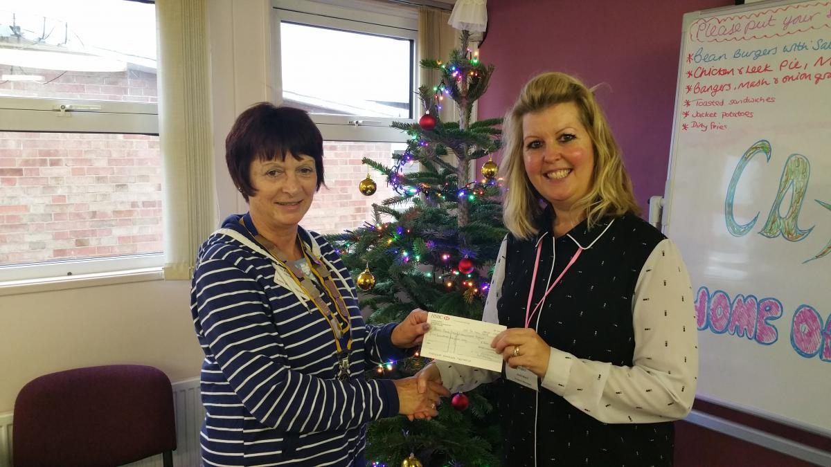 President Anne Bartholomew presenting a cheque to PPNP Project Manager Ruth Ward