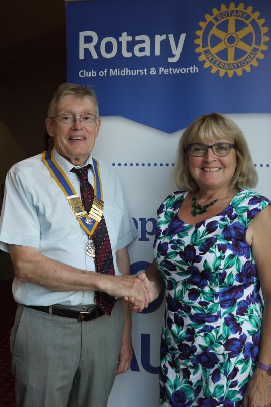 2018/19 News From M&P - President Richard Hill takes over from Hazel Morley