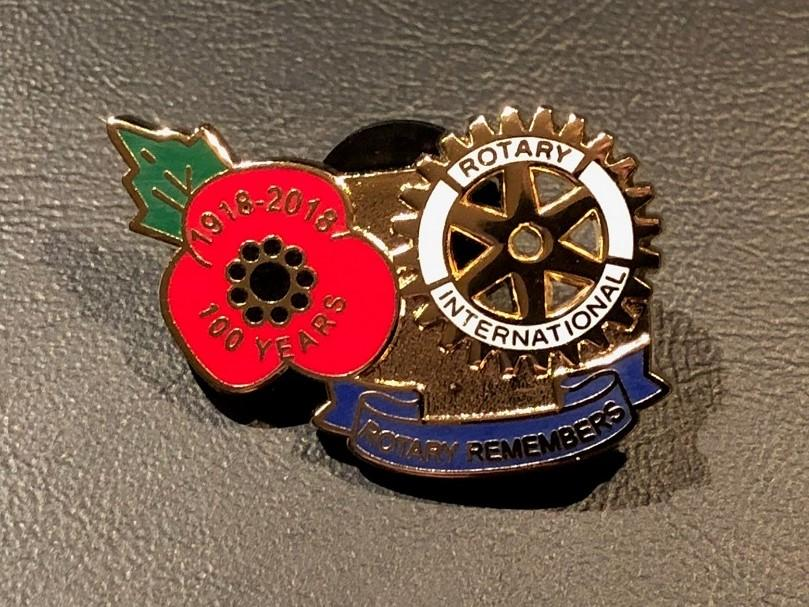 """Support for """"Rotary Remembers"""" – 2018 Rotary Poppy Pin Appeal"""