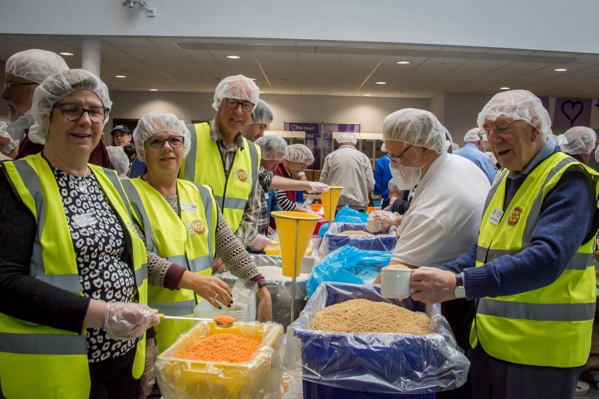Rise Against Hunger meal packing -