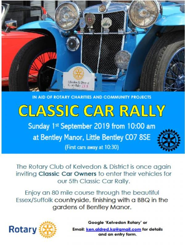 2019 Classic Car Rally - Classic Car Rally details