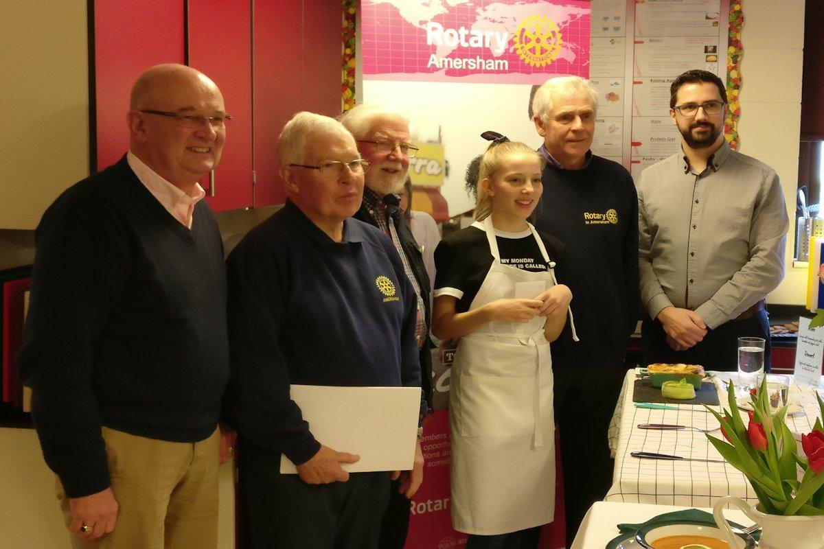 Chesham Rotary at Young Chef Competition - Young Chef Winner 2019