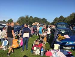 Rotary Boot Sale August Bank Holiday 2019 - The Crowds on a Fine day