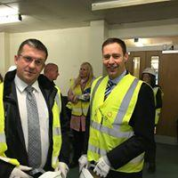 Visit to the new Wm. McIlvanney Campus, Sutherland Drive, Kilmarnock - Viewing the new Campus