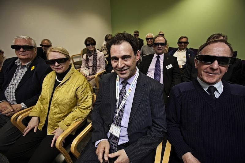 Dr Sule-Suso is seen here with guests (wearing 3D glasses) involved in fundraising.