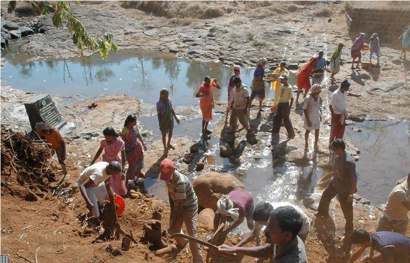 Leading a Water Harvesting Project in India.