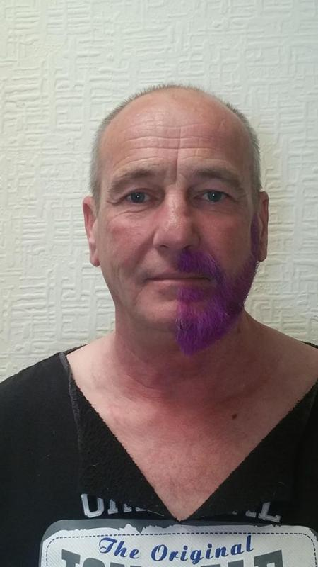 Purple Half Beard Challenge - This is how Bob will be until 24th October!